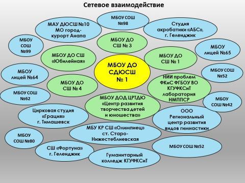 Трехуровневая структура сети МБОУ ДО СДЮСШ №1